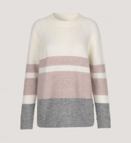SAMSOE & SAMSOE NOR O-NECK STRIPE KNIT