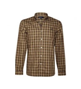 FRED PERRY TWILL CHECK LONG SLEEVE SHIRT