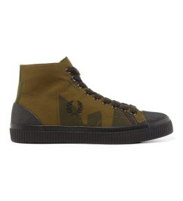 FRED PERRY ARKTIS PRINTED HUGHES MID CANVAS SHOE