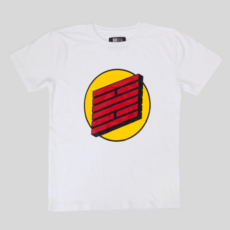 BB-TSM00-BR Planet Brick T-shirt