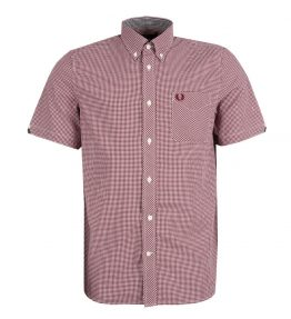 FRED PERRY CLASSIC GINGHAM SHORT SLEEVE SHIRT