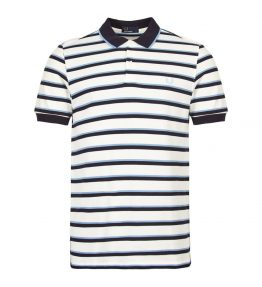 FRED PERRY FINE STRIPE POLO SHIRT