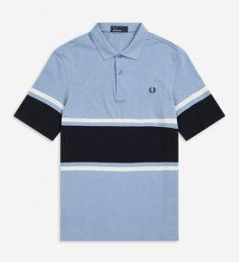 FRED PERRY BOLD FINESTRIPE POLO SHIRT