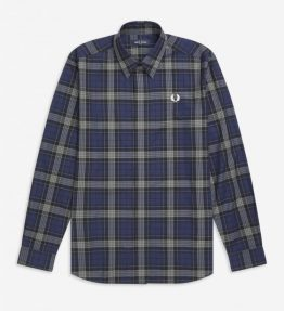 FRED PERRY BOLD TARTAN LONG SLEEVE SHIRT