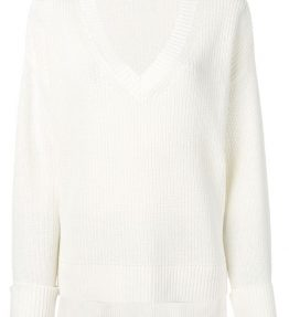 FILIPPA K COTTON LINEN V-NECK KNIT