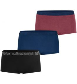 BJÖRN BORG 3-PACK SEASONAL SOLID MINISHORTS