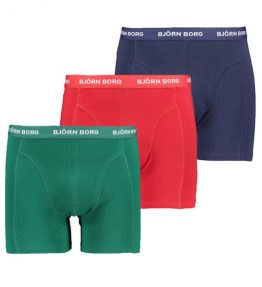 BJÖRN BORG 3-PACK SEASONAL SOLID SAMMY BOXERS