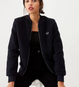 FRED PERRY BORG FLEECE BOMBER JACKET
