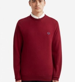 FRED PERRY CLASSIC WOOL CREW NECK KNIT