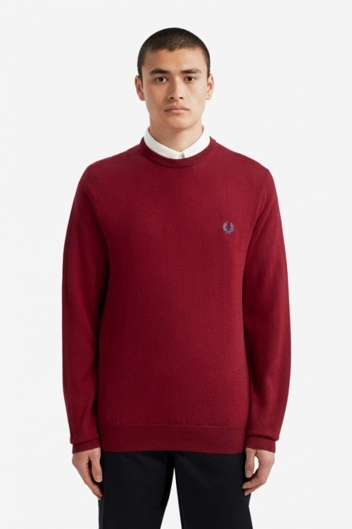 fred_perry_merino_wool_knit_wine